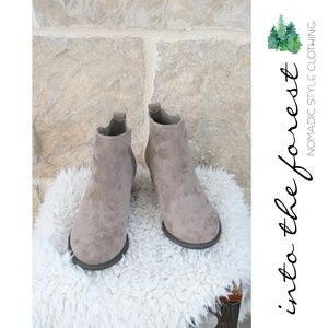 NEW Taupe Mushroom Bootie Ankle Boots 7 - fits 6.5